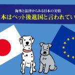 なぜ日本はペット後進国と言われているのか。海外と法律からみる日本の実情